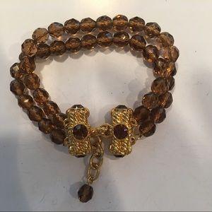 Beaded two stranded bracelet